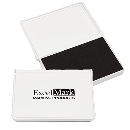 "ExcelMark Ink Pad for Rubber Stamps 2-1/8"" by 3-1/4"" (Black)"