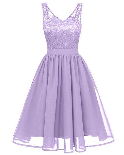 Ballerina giovane abiti cuore A sera Heart forma party sposa da a Chiffon donna Toscana di dal da moda abiti punta Cocktail Kurz Violett sweet sposa xZA6fqw