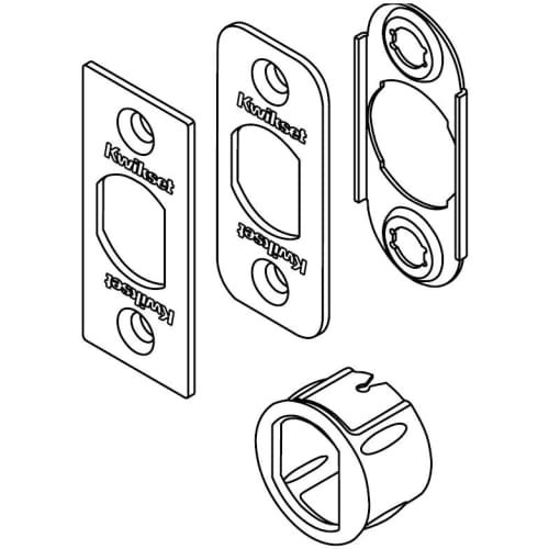 Kwikset Corporation 6WAL PL 15 SERV KIT 6-Way Plain Latch Service Kit in Satin Nickel