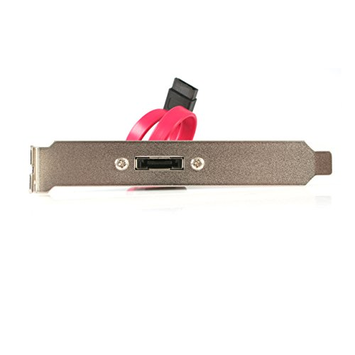 StarTech.com 1ft Low Profile SATA to eSATA Plate Adapter - eSATA Slot Bracket - Low Profile SATA to eSATA Bracket