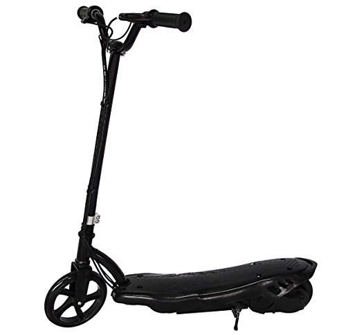 Maxtra Electric Scooter for Kids l60lbs Max Weight Capacity Motorized Scooters Bike Black Safe Speed (Black)