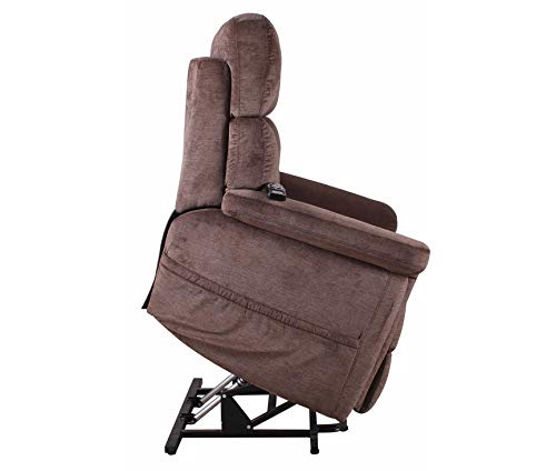 - Serta Horizon 652 Big Man Perfect Comfort 3 Position Lift Chair Power Recliner 500 lb Capacity - Polo Club Java Fabric w