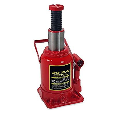 KCHEX>20 Ton Hydraulic Low Profile Bottle Jack Lift Heavy Duty Automotive Car Truck>20-Ton Low Profile Bottle Jack in The Repair Shop, Warehouse or Wherever There is Heavy Lifting to do.