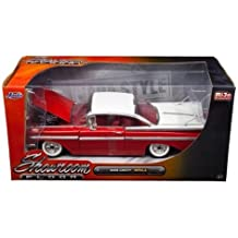 1959 Chevrolet Impala Red Showroom Floor 1/24 Diecast Model Car by Jada 98898