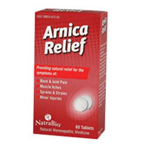 Natra Bio Arnica Relief Tablet - 60 per pack - 6 packs per case.