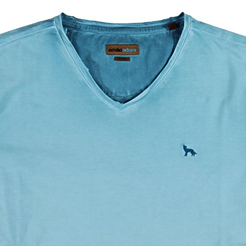 emilio adani Herren V-Neck T-Shirt, 23711, Türkis