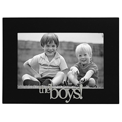 Malden International Designs The Boys! Expressions Picture Frame, 4x6, Black (Photo Frame Baby Boy)