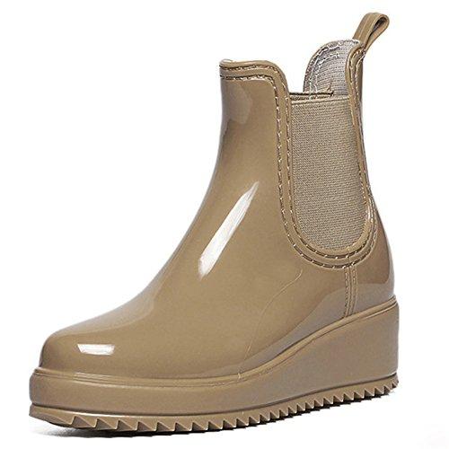 Boots SAGUARO Khaki Boots Rain Chelsea Boots Wellies Ladies Ankle Womens Wellington xrqnTw07Ur