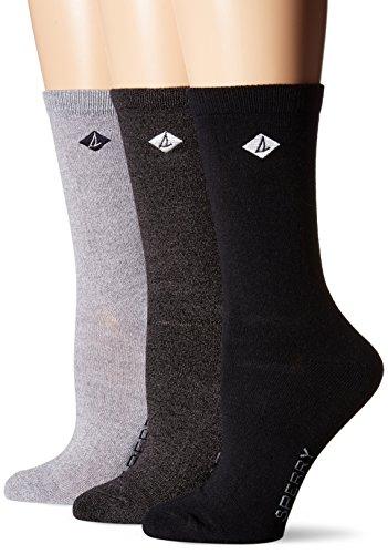 en's 3 Pack Classic Crew Socks Sockshosiery, Assorted White/Silver, 9-11 ()