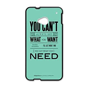 HTC One M7 Cell Phone Case Black quotes rolling stones get what you want L1C1IX