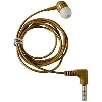 1-BUD-B Brown Earphone w/ Heavy-Duty Cord