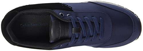 Black Nylon Sneaker Flocking Calvin Klein Uomo Indigo Emile Multicolore RqwavCa8E