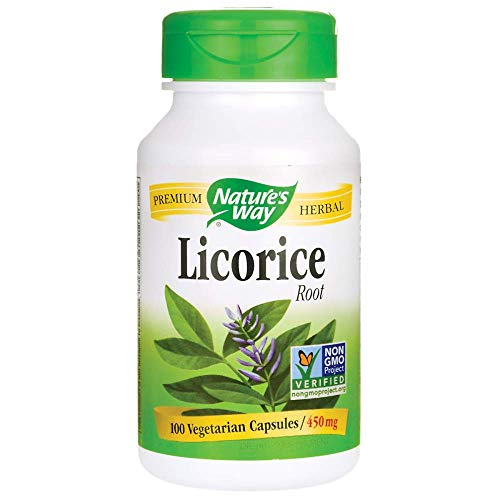 - Natures Way Licorice Root 100 Vegetarian capsule, 100 ct