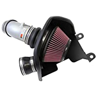 K&N Cold Air Intake Kit with Washable Air Filter: 2012-2015 Honda/Acura (Civic Si, ILX) 2.4L L4, Polished Metal Finish with Red Oiled Filter, 69-1019TS