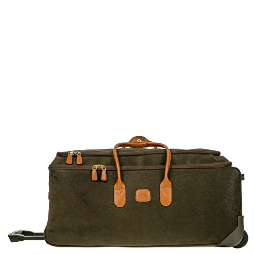 Brics Life Collection - Bric's Life 28 Inch Rolling Duffle Bag Suitcase, Olive