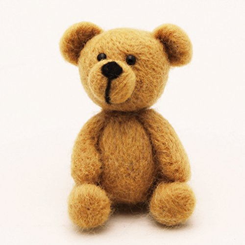 Needle Felted Bear (WOOLQUEEN Animal Needle Felting Character Kits, Bear,DIY Kit)