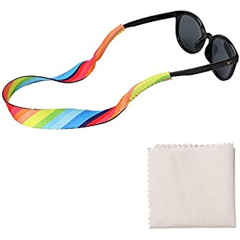 SZHOWORLD Pack of 3 Piece Outdoor Sports Neoprene Eyewear Retainer Sunglasses Glasses Adjustable Stretchy Band Strap Cord Green