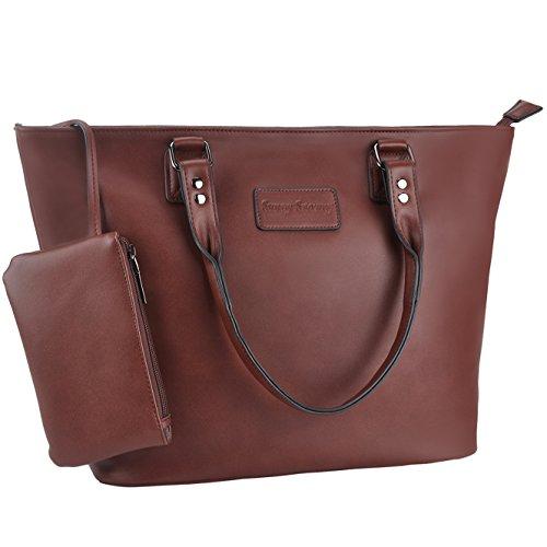 Women Tote Handbags,Work School Shoulder Handbag,Sunny Snowy Purse Tote Bag(8019,coffee)