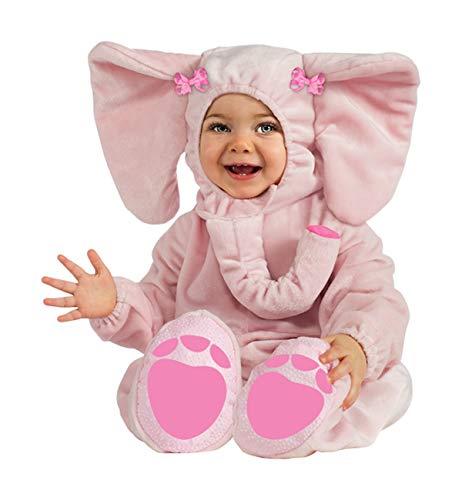 Rubie's Cuddly Jungle Ella-Fun Pink Elephant Romper Costume, Pink, 6-12 Months -