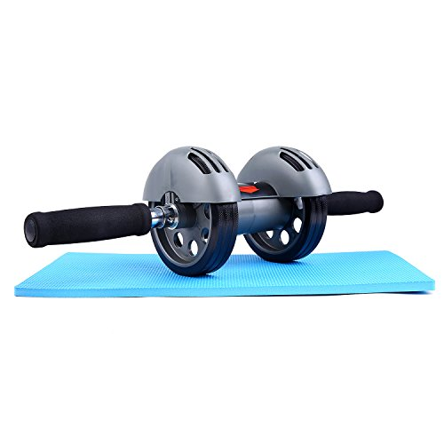 Sportneer-Ab-Wheel-Roller-with-Knee-Mat-Dual-Wheels-Abdominal-Trainers-Exercise-Fitness-Equipment