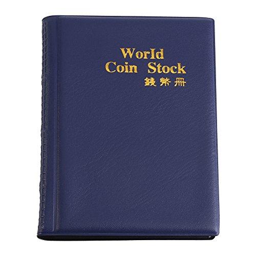 120 Pockets 10 Pages World Coin Storage Folder Album Money Collecting Holder Book New Design (Blue)