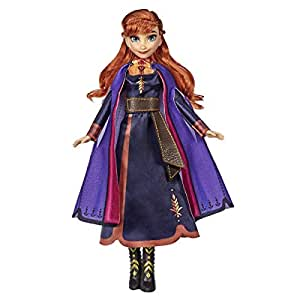 Disney Frozen Singing Anna Fashion Doll With Music Wearing A Purple Dress Inspired By 2 Toy For Kids 3 Years Up