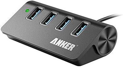 Anker USB 3.0 4-Port Portable Aluminum Hub with 2-Foot USB 3.0 Cable (Carbon)