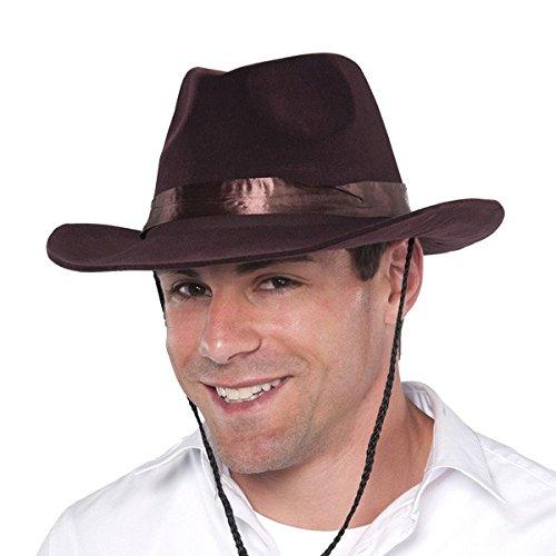 Brown Cowboy Hat - Flocked