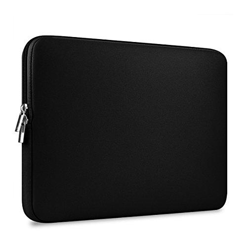 ROSENICE Laptop Hülle Tasche für 13 Zoll Macbook Mac Air Pro Retina (Schwarz Neopren Wasserdicht)
