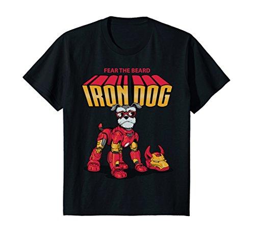 Price comparison product image Kids Funny Schnauzer Iron Dog 8 Black