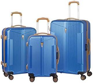 Murino IOA - Juego de 3 maletas, 2 tamaños y 1 tamaño cabina, color azul marino