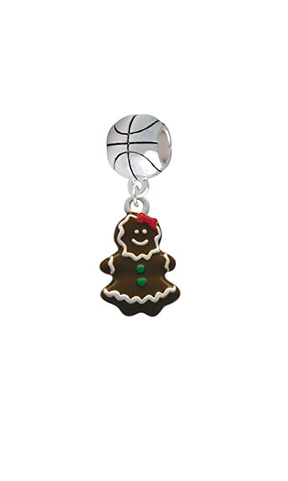 Abalorio charm esmaltado Gingerbread Girl - baloncesto: Amazon.es ...
