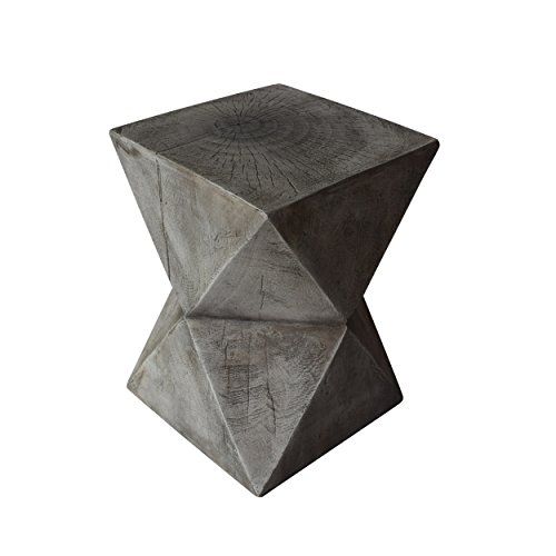 Great Deal Furniture 305836 Lux Outdoor Weight Concrete Side Table, Light Gray (Side Outdoor Concrete Table)