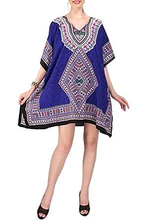 Women's Kaftan Tunic Kimono Style Dress Summer Beach Cover Up Plus Size