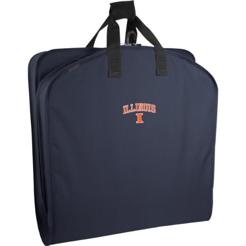WallyBags Illinois Fighting Illini 40 Inch Suit Length Garment Bag,Navy IL,One Size