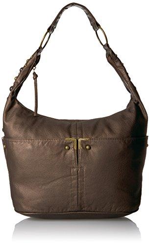 Bueno of California Bueno Faux Antique Leather Washed Shoulder (Finish Bronze California)