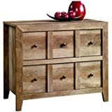 Sauder 418104 Credenza, TV Stand Anywhere Console, Craftsman Oak