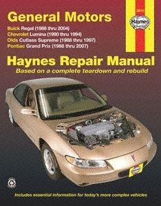 Haynes Repair Manuals GM: Regal, Lumina, Grand Prix, Cutlass Supreme, 88-07 (38010)