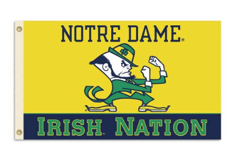 NCAA Notre Dame Fighting Irish 3-by-5 Foot Nation Flag With Grommets ()