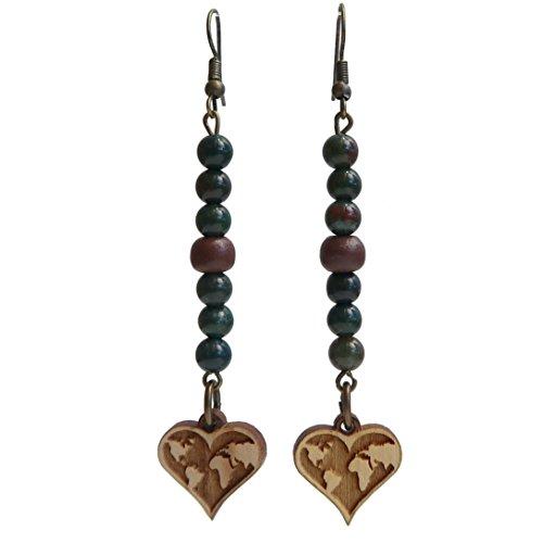 (Bloodstone Earrings 3.3