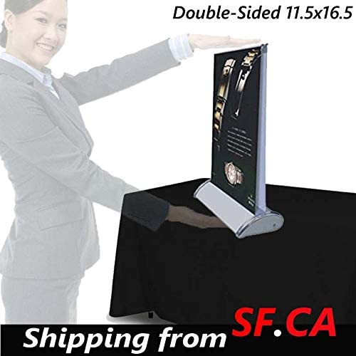 Fits 8 1//2in x 11 1//2in Banners Includes 5 Banner Stands 7 pcs,A4,Mini Table Top Retractable Banner Stands Banners are not Included