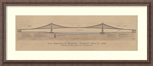 - Amanti Art Framed Home Wall Art Prints | Brooklyn Bridge by Craig S. Holmes | Rustic, Country, Coastal, Modern Contemporary, Shabby Chic, Casual Decor, Distressed Wood