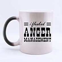 Popular Funny Quotes - I FLUNKED ANGER MANAGEMENT Theme Coffee Mug or Tea Cup,Ceramic Material Mugs,White - 11 oz