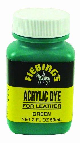 fiebings-green-acrylic-leather-paint