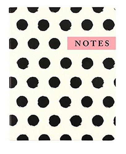 "Eccolo World Traveler 8"" x 10"" Desk Journal, Polka Dot Notes (D505P)"