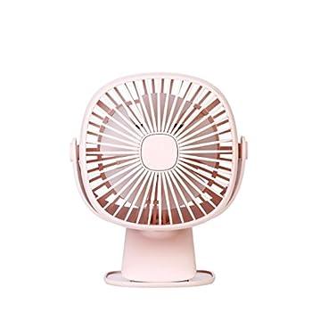Caopixx Multi-Function Protable Fan USB Mini Electric Fan Night light Table Desktop Fan Adjustable (Pink)