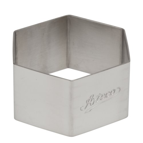 - Ateco 4910 Hexagon Stainless Steel Form, 2.3 by 1.4-Inches High