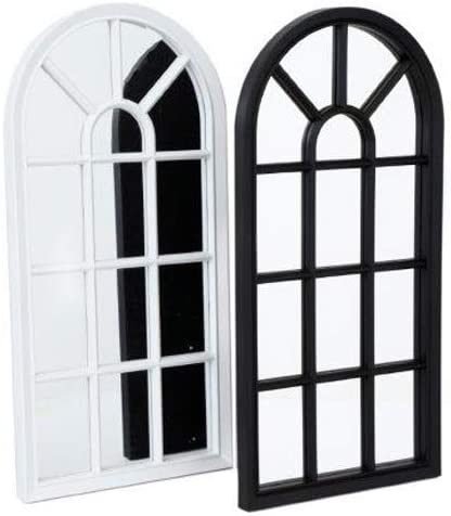 BARGAINSGALORE WHITE 70CM WINDOW STYLE MIRROR LIVING ROOM DECORATION HALLWAY HOME PANEL WALL GLASS