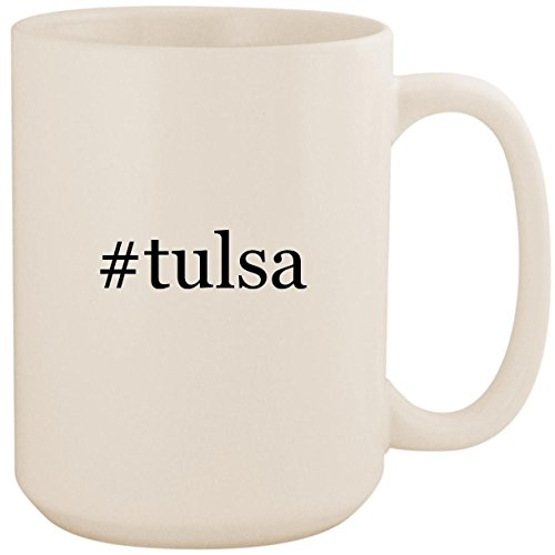 #tulsa - White Hashtag 15oz Ceramic Coffee Mug