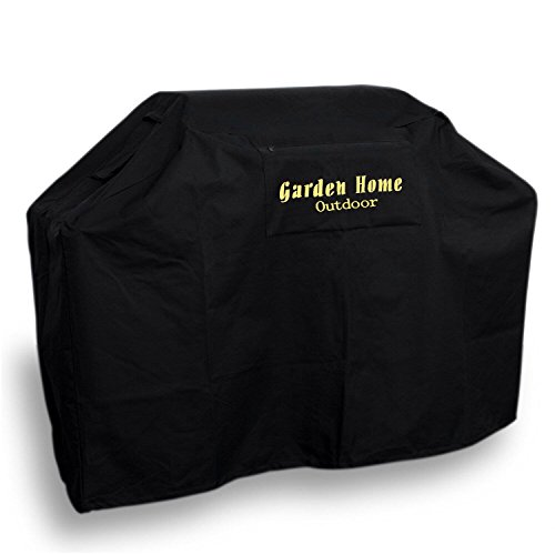 Garden Home Outdoor 617037063672 Heavy Duty Grill Cover, Black, 64'' L